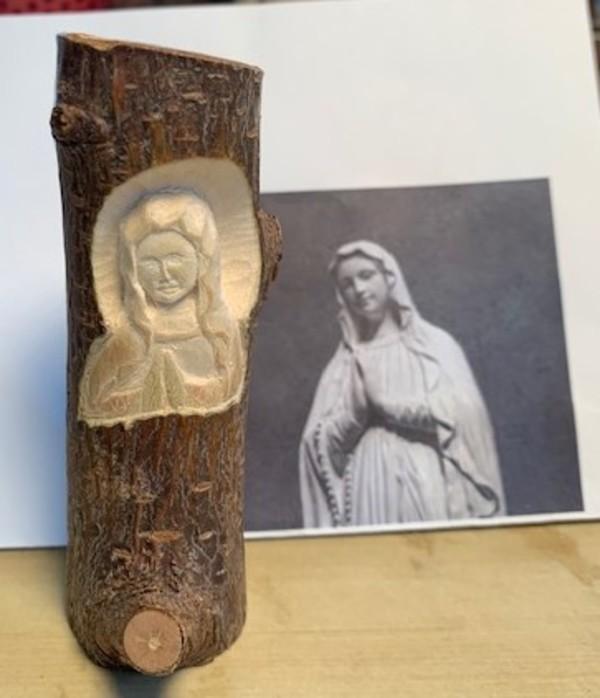 誕生日プレゼントにマリア像と薬師三尊